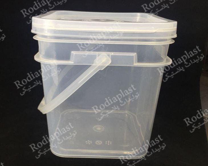 سطل پلاستیک شفاف