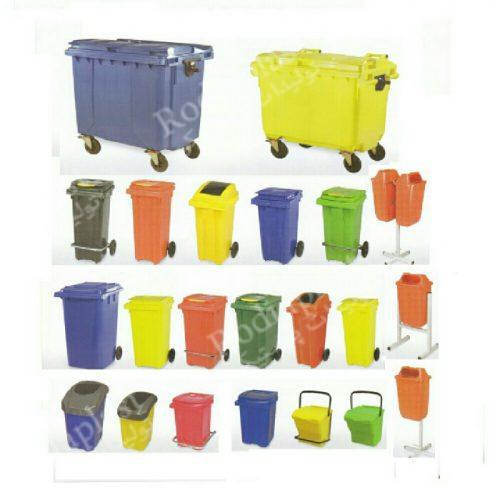 سطل زباله پلاستیکی چرخدار انواع
