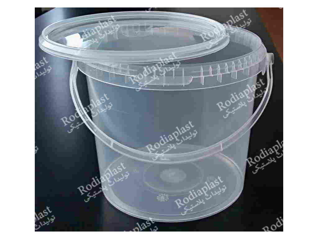 خرید سطل پلاستیکی شفاف