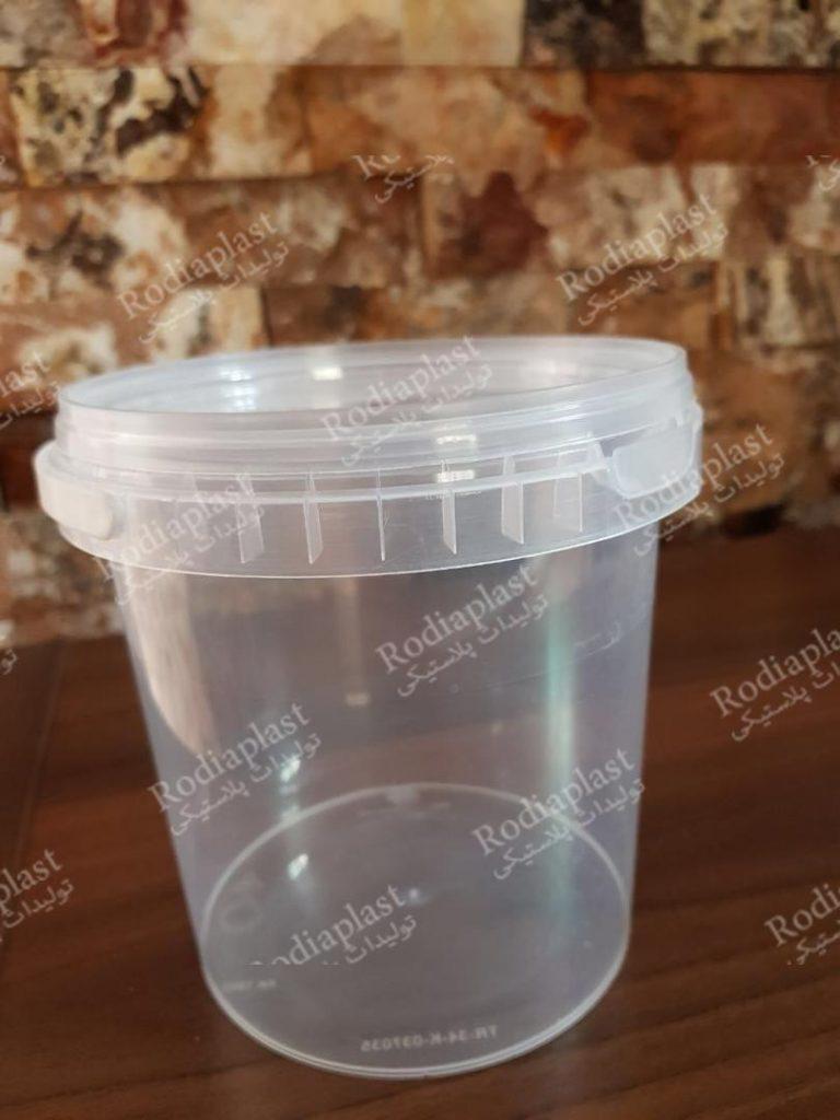 سطل شفاف ماست