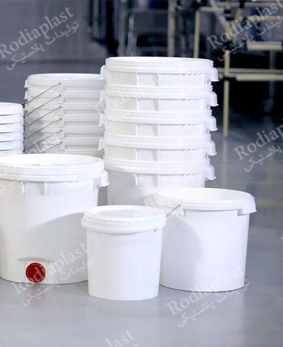 سطل پلاستیکی پنیر
