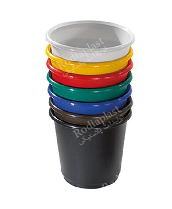 سطل پلاستیکی گرد زباله