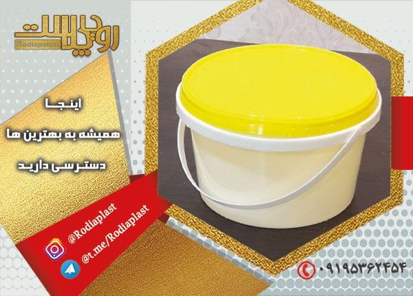 قیمت سطل ماست پلاستیکی با درب و دسته یکبار مصرف