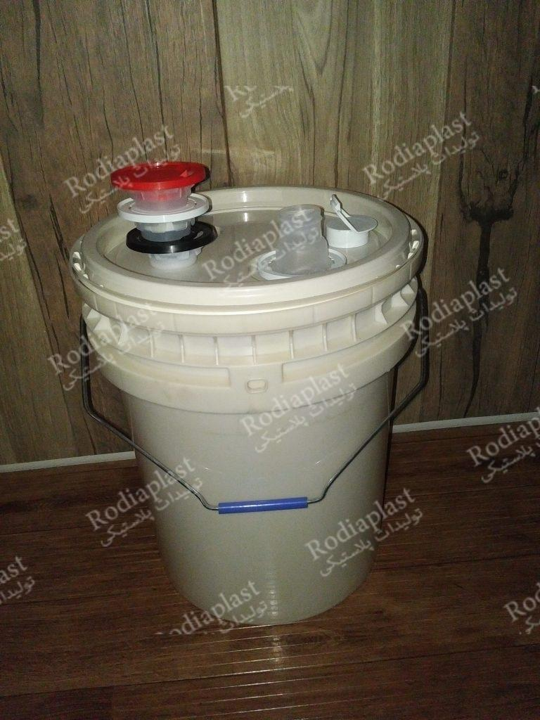 سطل 20 لیتری کلاژ دار