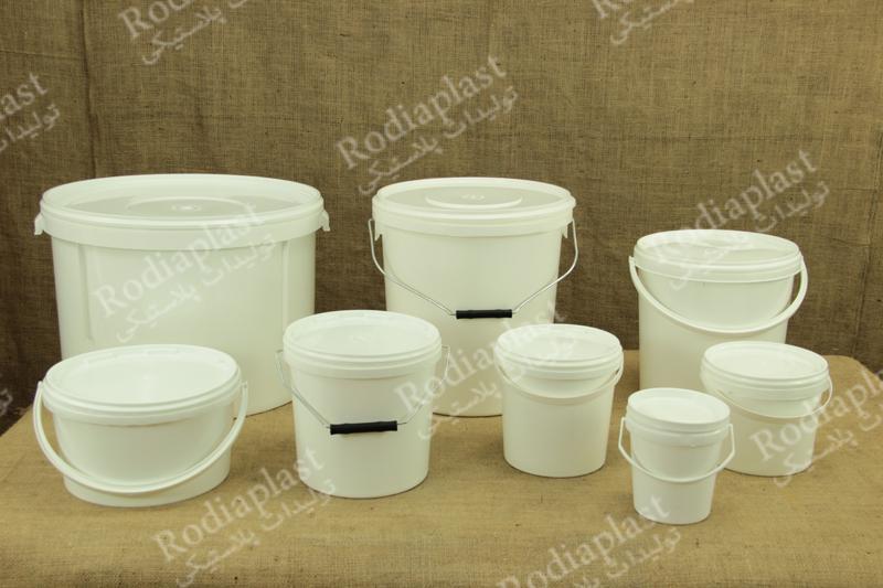 سطل پلاستیکی تولیدی