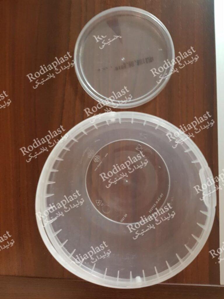 سطل پلاستیکی شفاف