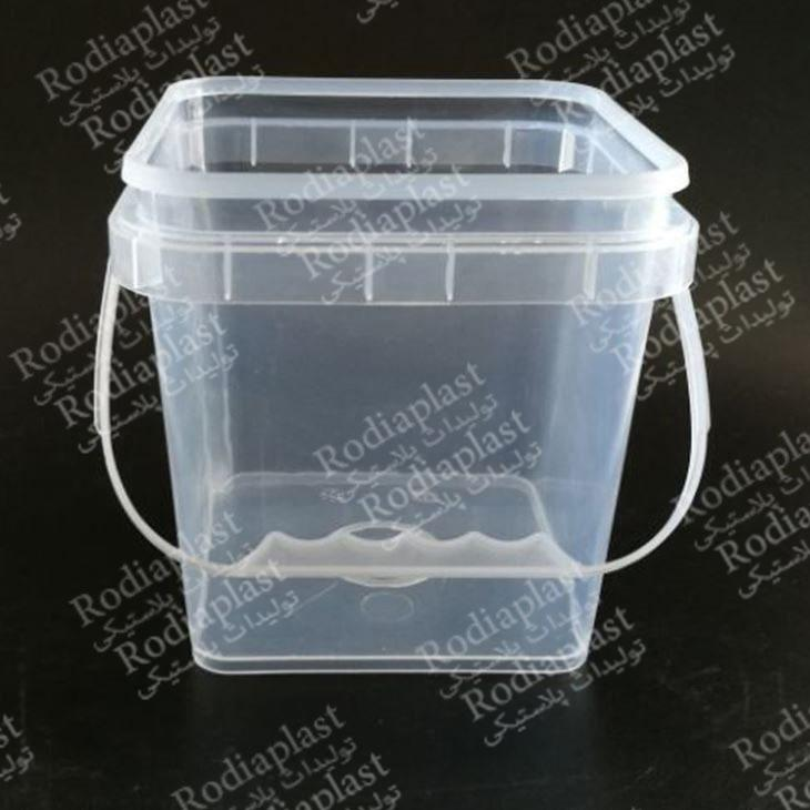 سطل پلاستیکی شفاف بزرگ