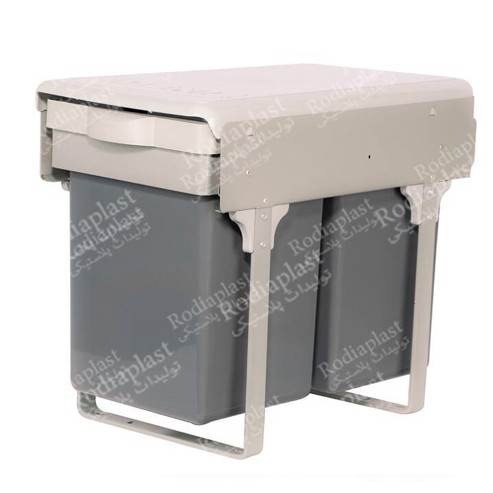 سطل زباله دوقلو داخل کابیت