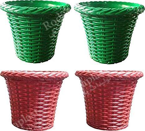 گلدان پلاستیکی رنگی و جذاب