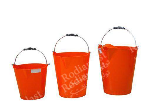 انواع سطل بنایی با دسته فلزی و پلاستیکی