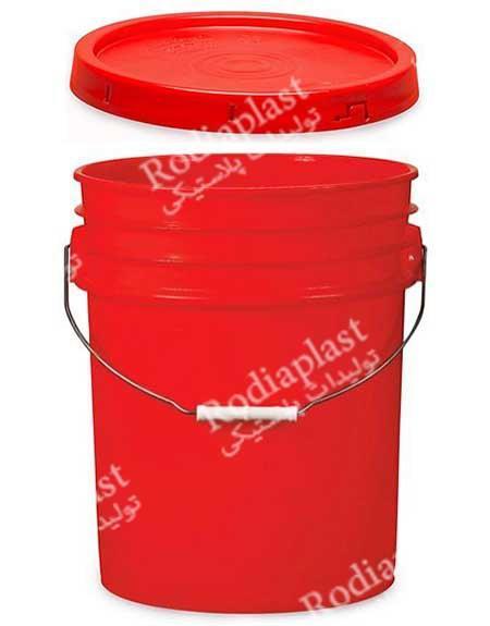 قیمت سطل پلاستیکی در ساده و پلمپ دار