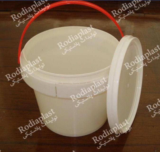 سطل پلاستیکی درب دار چسب و رنگ